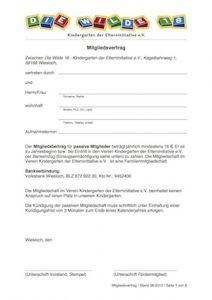 Mitgliedsvertrag